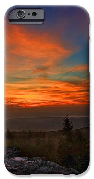 Sunrise at Bear Rocks in Dolly Sods iPhone Case by Dan Friend