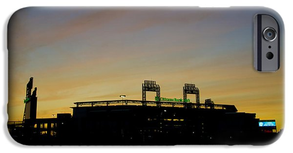 Philadelphia Phillies Stadium Digital iPhone Cases - Sunrise at Citizens Bank Park iPhone Case by Bill Cannon