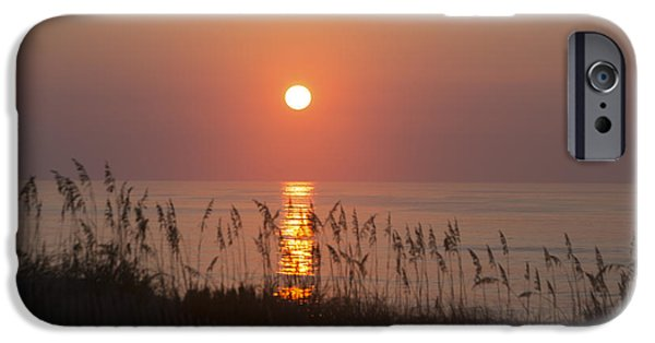 Atlantic Ocean iPhone Cases - Sunrise at Corolla Outer Banks North Carolina iPhone Case by Diane Diederich