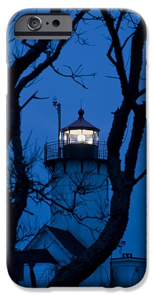 New England Lighthouse iPhone Cases - Sunrise at Eastern Point Lighthouse - Gloucester MA iPhone Case by Joann Vitali