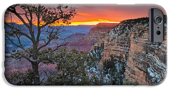 Grand Canyon iPhone Cases - Sunrise at Grand Canyon Arizona Scenic Photography iPhone Case by Rob Travis