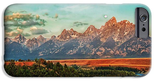 Haybale iPhone Cases - Sunrise At Grand Tetons iPhone Case by Robert Bales