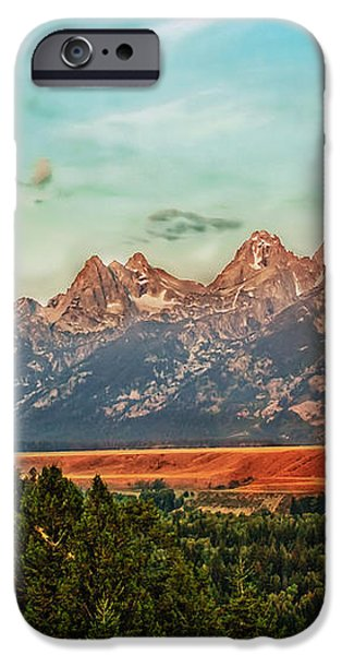 Sunrise At Grand Tetons iPhone Case by Robert Bales