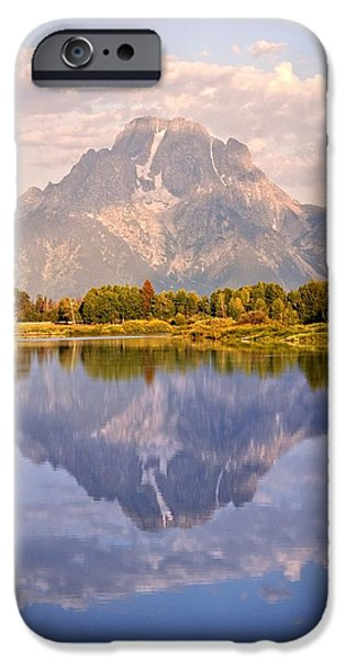 Sunrise at Oxbow Bend 2 iPhone Case by Marty Koch