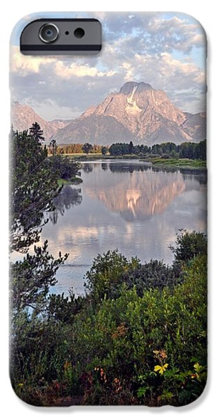 Sunrise at Oxbow Bend 3 iPhone Case by Marty Koch