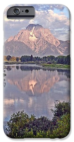 Sunrise at Oxbow Bend 4 iPhone Case by Marty Koch