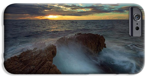 Impacting iPhone Cases - Sunrise at sea iPhone Case by Davorin Mance
