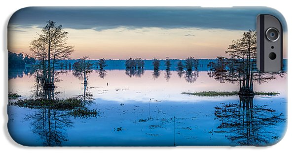 Recently Sold -  - Alga iPhone Cases - Sunrise at Steinhagen Reservoir iPhone Case by David Morefield