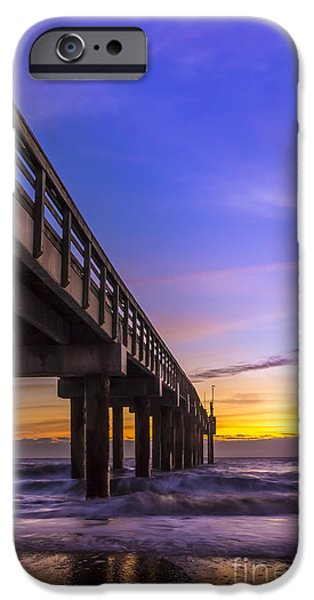 Sweeps iPhone Cases - Sunrise at the Pier iPhone Case by Marvin Spates