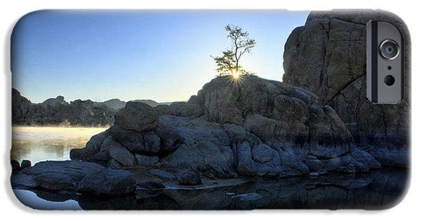 Prescott iPhone Cases - Sunrise At Watson Lake iPhone Case by Dan Myers