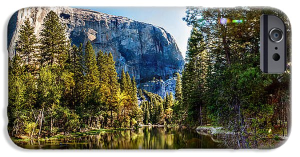Morning iPhone Cases - Sunrise At Yosemite iPhone Case by Az Jackson