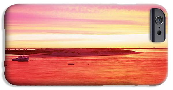 Chatham iPhone Cases - Sunrise Chatham Harbor Cape Cod Ma Usa iPhone Case by Panoramic Images