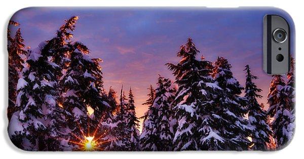 Winter iPhone Cases - Sunrise Dreams iPhone Case by Darren  White
