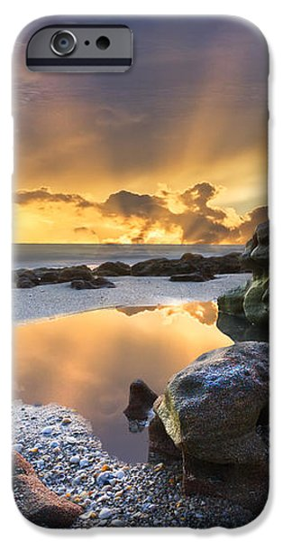 Sunrise Explosion iPhone Case by Debra and Dave Vanderlaan