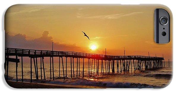 Sailboats iPhone Cases - Sunrise Flight 6 6/9 iPhone Case by Mark Lemmon