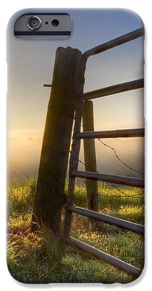 Sunrise  Gate iPhone Case by Debra and Dave Vanderlaan