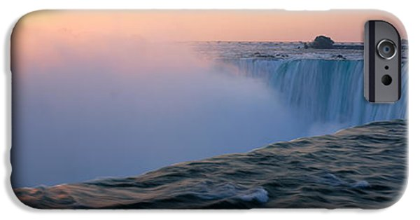 Niagara Falls iPhone Cases - Sunrise Horseshoe Falls Niagara Falls iPhone Case by Panoramic Images
