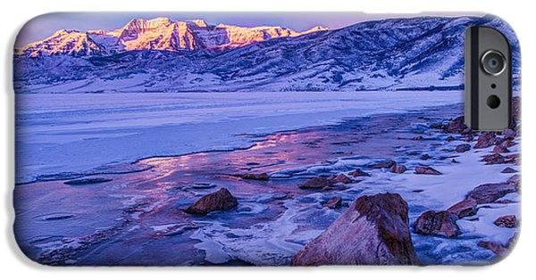 Reservoir iPhone Cases - Sunrise Ice Reflection iPhone Case by Chad Dutson