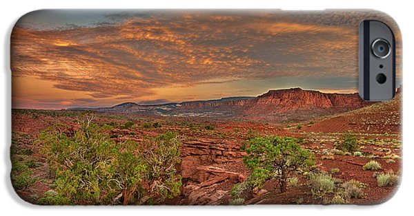 Dave iPhone Cases - Sunrise in Capitol Reef National Park Utah iPhone Case by Dave Welling