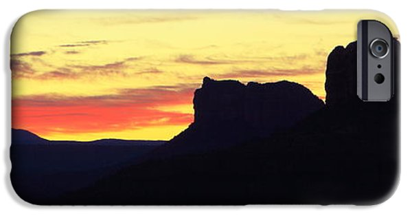 Cathedral Rock iPhone Cases - Sunrise in Sedona iPhone Case by Roupen  Baker