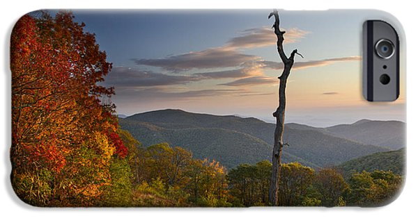 Scenic Drive iPhone Cases - Sunrise in Shenandoah National Park iPhone Case by Pierre Leclerc Photography