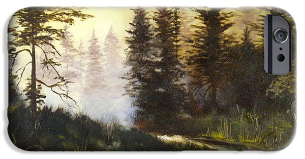 Pathway iPhone Cases - Sunrise in the Forest iPhone Case by Lee Piper