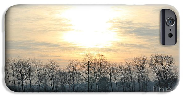 Wintertime iPhone Cases - Sunrise in Wintertime iPhone Case by Four Hands Art