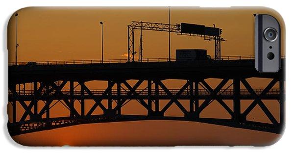 Yorktown Virginia iPhone Cases - Sunrise in Yorktown iPhone Case by Barry  Blackburn