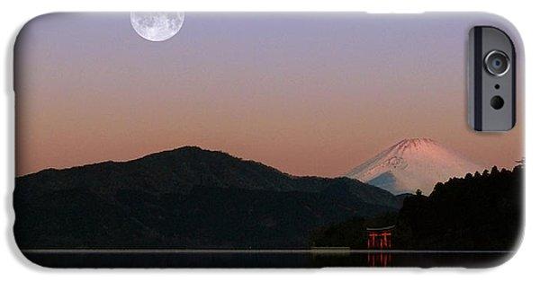 Historic Site Mixed Media iPhone Cases - Sunrise Japan  iPhone Case by John Swartz