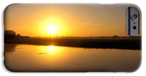 Innocence iPhone Cases - Sunrise Kakadu National Park Northern iPhone Case by Panoramic Images