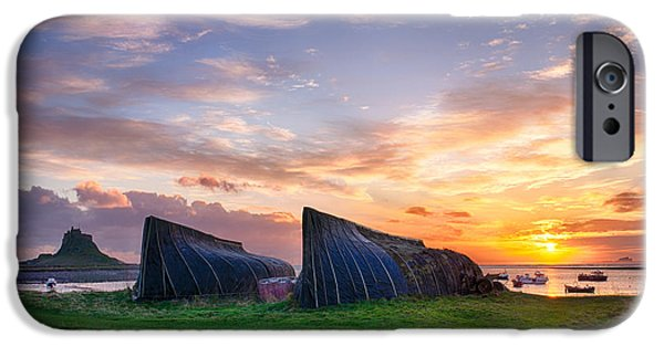 Northeast iPhone Cases - Sunrise Lindisfarne HDR iPhone Case by Tim Gainey