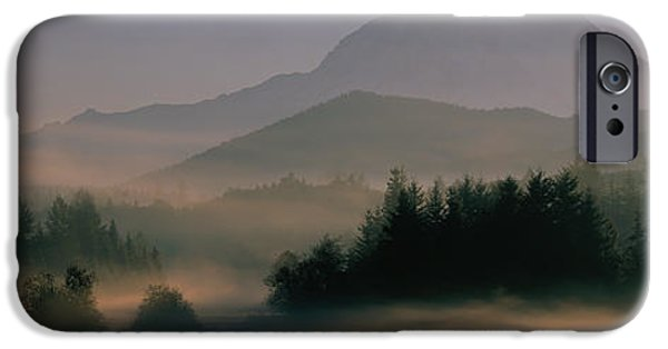 Mountain iPhone Cases - Sunrise, Mount Rainier Mount Rainier iPhone Case by Panoramic Images