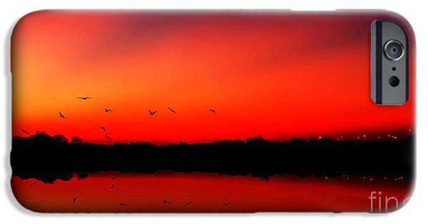 Wow iPhone Cases - Sunrise On A Loch iPhone Case by John Farnan