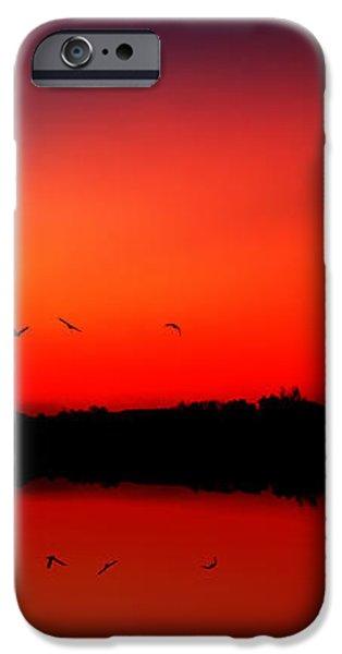 sunrise on a loch iPhone Case by John Farnan