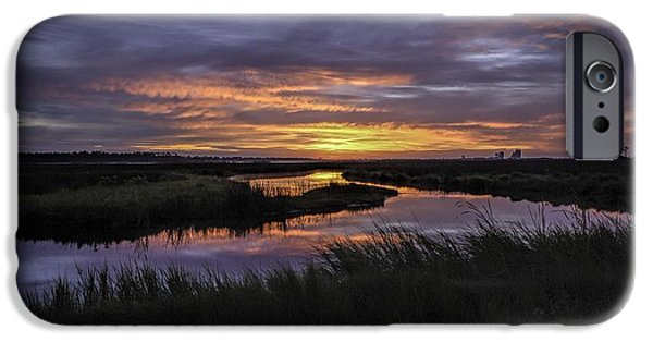 Micdesigns iPhone Cases - Sunrise on Lake Shelby iPhone Case by Michael Thomas
