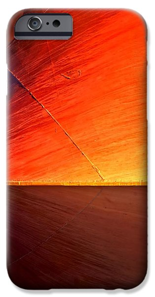 Abnormal iPhone Cases - Sunrise on Metal iPhone Case by Newel Hunter