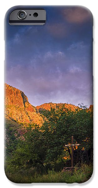 Sunrise on the Chapel iPhone Case by Aaron S Bedell
