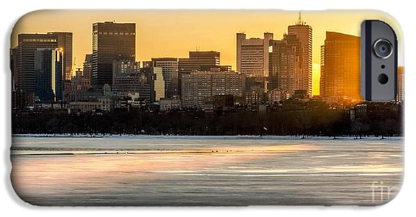 Boston Ma iPhone Cases - Sunrise on the Charles iPhone Case by Mike Ste Marie