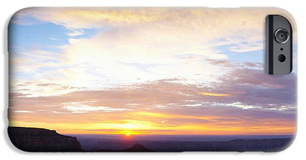 Grand Canyon iPhone Cases - Sunrise On The Colorado Plateau iPhone Case by Panoramic Images