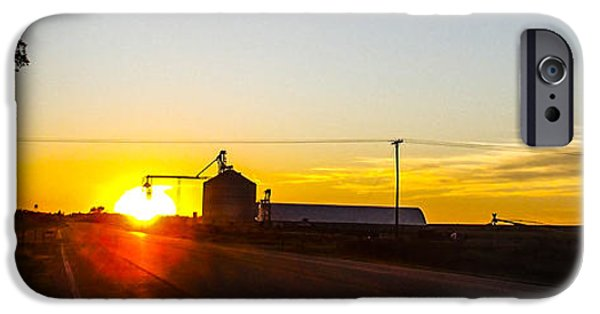 Nebraska iPhone Cases - Sunrise on the Farm iPhone Case by Angus Hooper Iii
