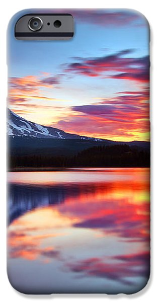 Sunrise on the Lake iPhone Case by Darren  White