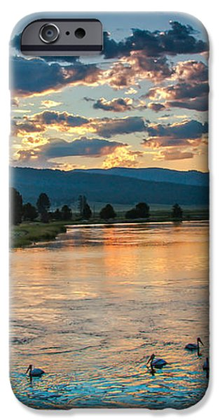 Sunrise On The North Payette River iPhone Case by Robert Bales