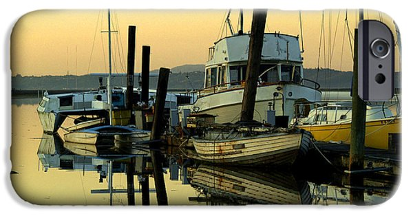 Bill Gallagher Photographs iPhone Cases - Sunrise on the Petaluma River iPhone Case by Bill Gallagher