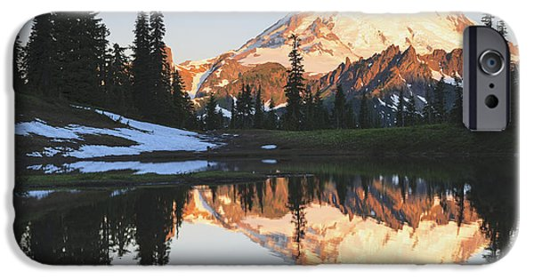 Reflections Of Sky In Water iPhone Cases - Sunrise Over A Small Reflecting Pond iPhone Case by Stuart Westmorland