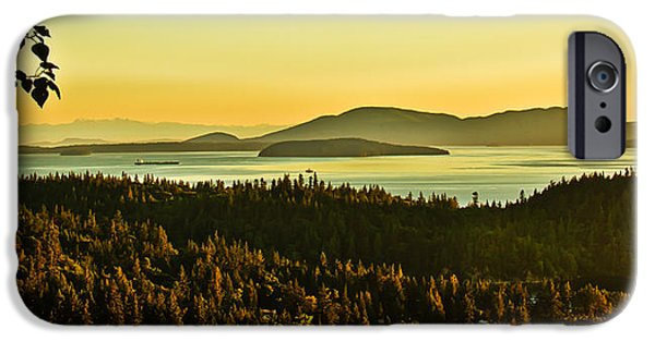 Recently Sold -  - Haybale iPhone Cases - Sunrise Over Bellingham Bay iPhone Case by Robert Bales