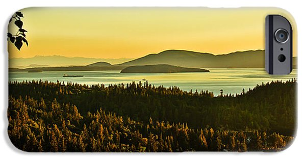 Haybale iPhone Cases - Sunrise Over Bellingham Bay iPhone Case by Robert Bales