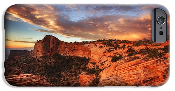 Darren iPhone Cases - Sunrise Over Canyonlands iPhone Case by Darren  White