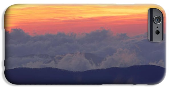 Smokey Mountains iPhone Cases - Sunrise Over Clingmans Dome, Great iPhone Case by Panoramic Images