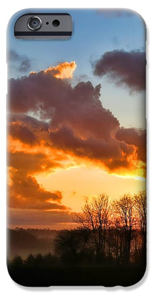 Sunrise over Countryside iPhone Case by Olivier Le Queinec