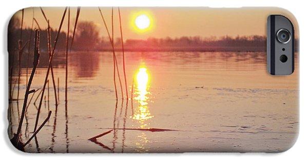 Popular iPhone Cases - Sunrise over frozen water iPhone Case by Yvon van der Wijk